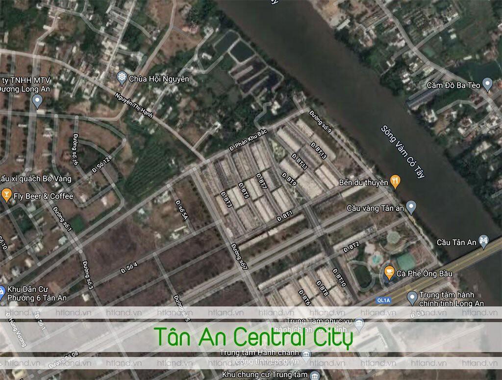 vị trí tân an central city