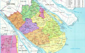Bản đồ hành chính Trà Vinh