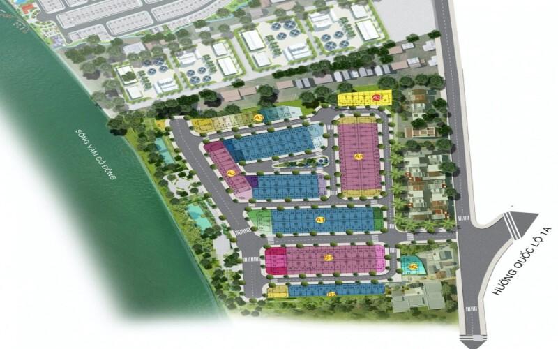 Bản đồ phân lô Solar City Bến Lức 1