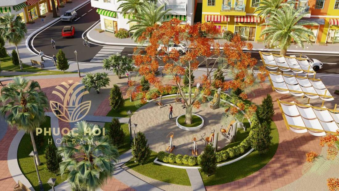 Công viên trong dự án Phước Hội Hồ Tràm