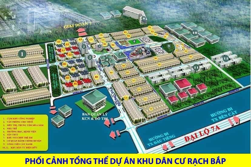 Tổng thể dự án Khu công nghiệp Rạch Bắp Bình Dương