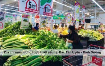Địa chỉ mua lương thực thực phẩm thiết yếu mùa dịch Bắc Tân Uyên - Bình Dương