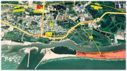 vị trí Phước Hội Hồ Tràm