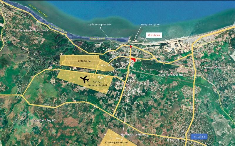 vị trí KDC Phước Hội Hồ Tràm