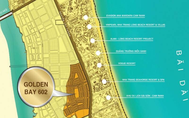 Vị trí dự án Golden Bay
